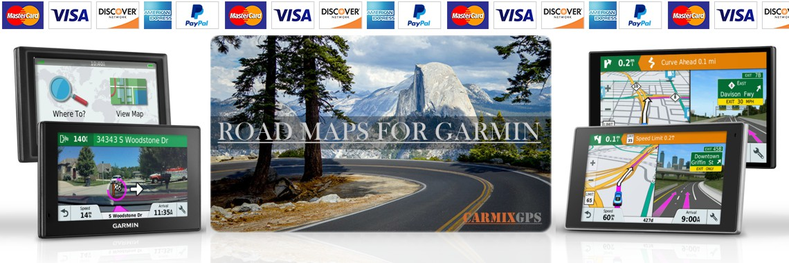 Garmin Road maps