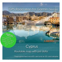 Cyprus Road Map for Garmin Devices