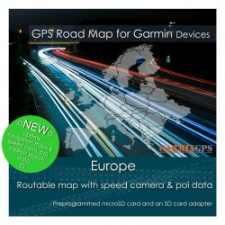 Europe (all countries) Road Map for Garmin Devices