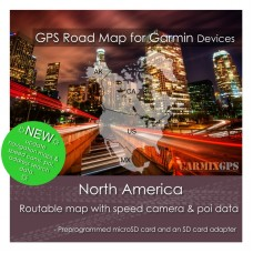 North America (US-CA-MX) Road Map for Garmin Devices