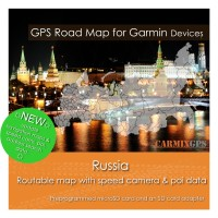 Russia Road Map for Garmin Devices