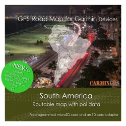 South America Road Map for Garmin Devices