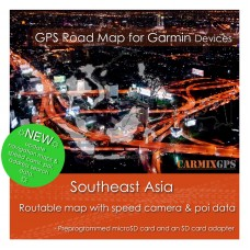 Southeast Asia Road Map for Garmin Devices