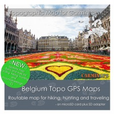 Belgium Topo Map for Garmin Devices