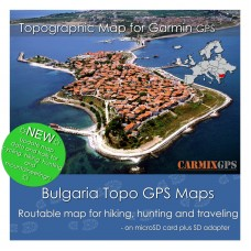 Bulgaria Topo Map for Garmin Devices