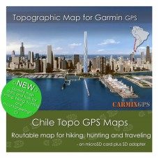Chile Topo Map for Garmin Devices