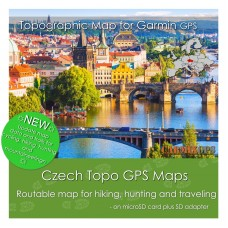 Czech Topo Map for Garmin Devices