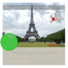 France Topo Map for Garmin Devices