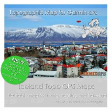 Iceland Topo Map for Garmin Devices