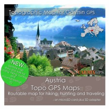 Austria Topo Map for Garmin Devices