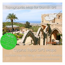 Cyprus Topo Map for Garmin Devices